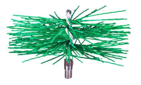 Щетка-ершик для чистки дымохода ф400 мм пластиковая под резьбу