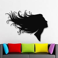 Виниловая наклейка- волосы(длинные ) (от 15х25 см)