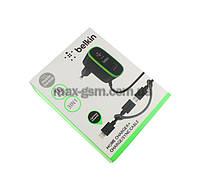 УЗУ Belkin MicroUSB/iPhone 5s/6/7/8/X. black (СЗУ USB, 2.1A/Data Cable).Original.
