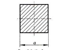 Квадрат стальной горячекатаный ГОСТ 2591-88