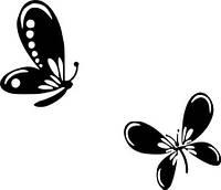 Виниловая наклейка- Бабочки (2) (от 10х10 см)