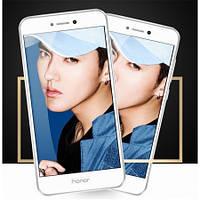 Закаленное защитное 3D стекло (на весь экран) для Huawei P8 Lite (2017) (Белое)