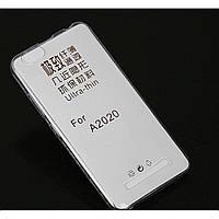Силиконовый чехол 0,33 мм для Lenovo Lenovo Vibe C (A2020) прозрачный