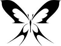 Виниловая наклейка- Бабочка (6) (от 10х10 см)