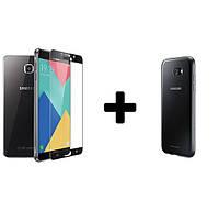 Скидка чехол бампер + 3d стекло для Samsung Galaxy C7