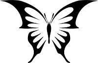 Виниловая наклейка- Бабочка (7) (от 10х10 см)