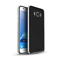 Чехол - бампер iPaky (Original) для Samsung G610F Galaxy J7 Prime (2016) - серебряный