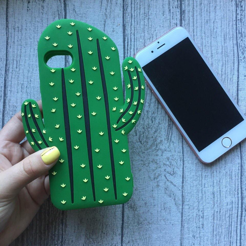 Силиконовый чехол кактус для iPhone 6/6s