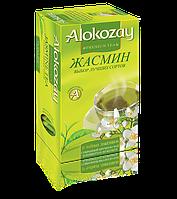 Зеленый цейлонский чай с ароматом жасмина Alokozay 25 пакетиков