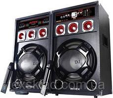 Комплект активной акустики DJ-220USB с радиомикрофонами (USB/FM)