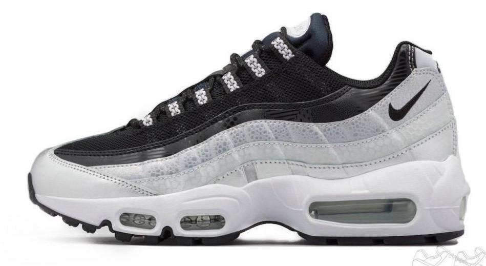 Мужские кроссовки Nike Air Max 95 QS Metallic Platinum & Noir