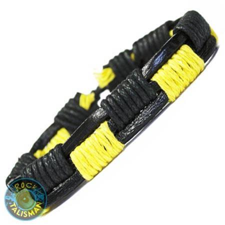 Браслет-фенечка - BF-239 - желтый оплетеный, фото 2