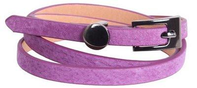Яркий женский узкий ремень из натуральной замши 49173 фиолетовый ДхШ: 105х1см.