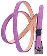 Яркий женский узкий ремень из натуральной замши 49173 фиолетовый ДхШ: 105х1см., фото 2