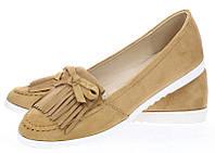 Женские балетки коричневого цвета Gunther CAMEL