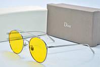 Солнцезащитные очки круглые Dior желтые