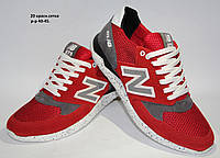Кожаные спортивные летние кроссовки New Balance из турецкой сетки и подклада
