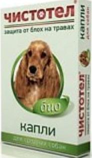 Чистотел Био капли от блох и клещей для собак средних пород