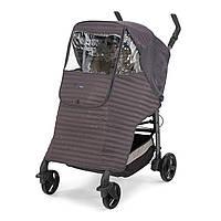 Прогулочная накидка-дождевик на коляску Chicco - Италия,  серого цвета