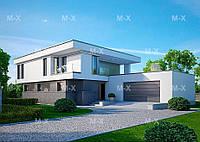 MX116. Проект современного двухэтажного коттеджа оригинальной архитектуры