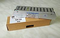 """Блок питания 12V 5A 60Вт """"LONG"""" в перфорированом корпусе для светодиодной ленты"""