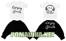 Детский  86 1-1,5 года летний костюм комплект для мальчика малышей футболка и бриджы на лето 3596 Белый