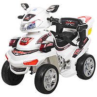 Детский электрический квадроцикл M 0633 EBR-1 белый, мягкие колеса с пультом