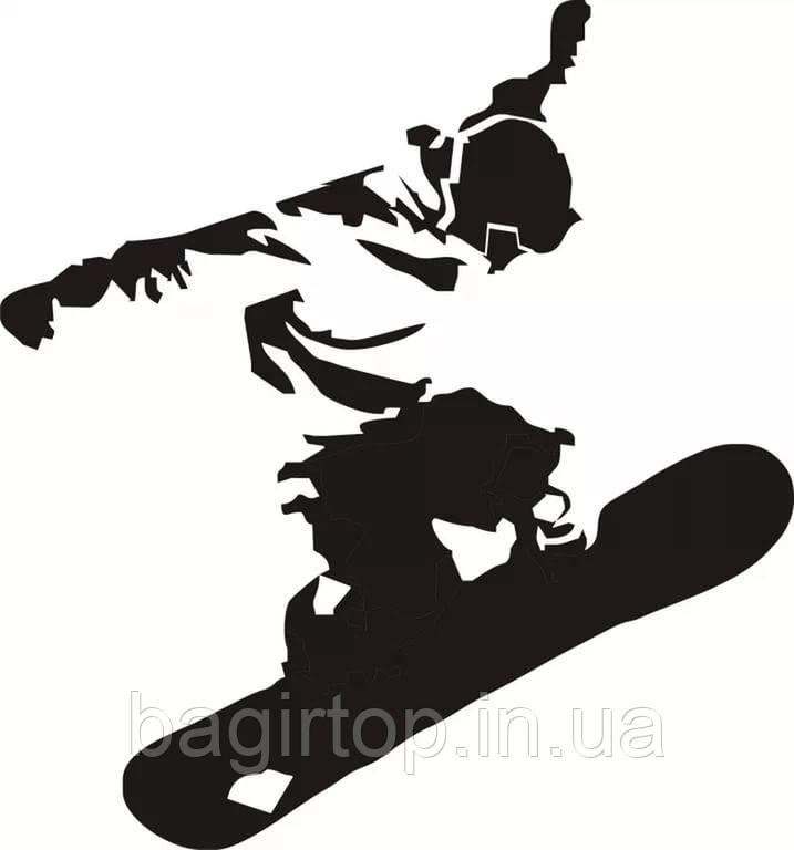 Виниловая наклейка- сноубордист (от 15х15 см)