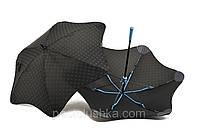 Зонт MINI+ BLUNT цветные спицы Черный/синий