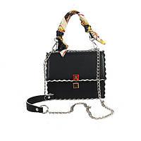 Стильная женская сумка на плечо FENDI Kan I черного цвета