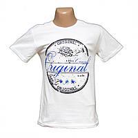 Мужская белая футболка большие размеры Турция H4816-5