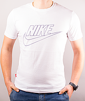 Мужская футболка NIKE белая хлопок