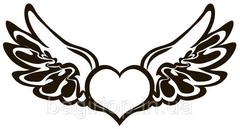 Виниловая наклейка-сердце-крылья