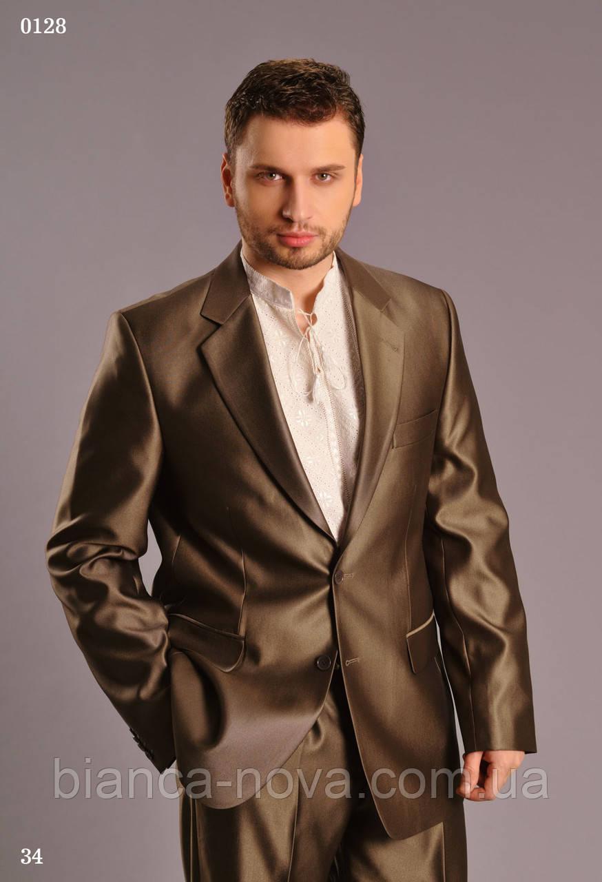 Костюм мужской West fashion (Коричнево оливковый)