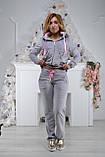 Женский спортивный костюм из плюша (Турция); разм 42, 44, 46,48, 2 цвета, фото 3