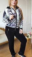 """Велюровый женский турецкий спортивный костюм """"EZE"""", купить разм 50,52,54,56,58,60 , фото 1"""