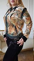 Велюровый женский турецкий спортивный костюм,  купить большие размеры 50,52,54,56,58,60 , фото 1