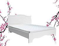 Кровать Роза полуторная белая (белый супермат) с подъемным механизмом 140х200, Газ-лифт