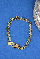 Браслет женский золото металл, фото 1