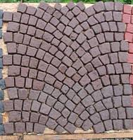 Вибролитая тротуарная плитка под натуральный камень (ковер веер) 40мм