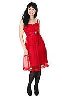 Вечернее платье, 44-46, красный