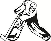 Виниловая наклейка - Хоккей (9) (от 15х15 см)