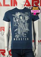 Valimark cтильная мужская футболка  темно-синяя светится в темноте mobster код 17298, фото 1