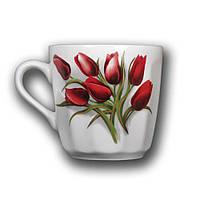 """Кружка """"Вертикаль"""" 350мл. Красный тюльпан"""