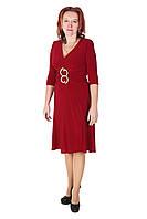 Вечернее утягивающее платье, 48-50, бордо