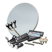 Спутниковое ТВ комплект на 2 телевизора