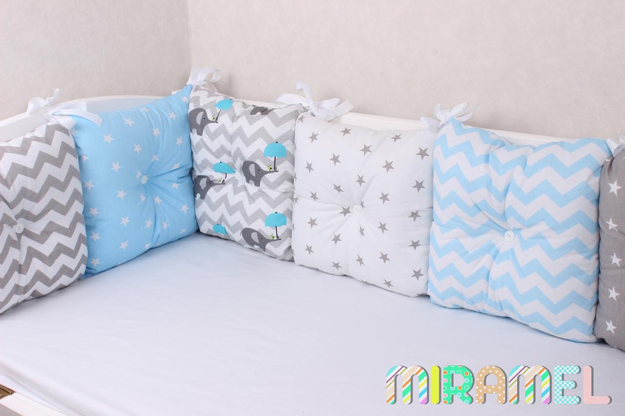 Бортики подушечки в детскую кроватку