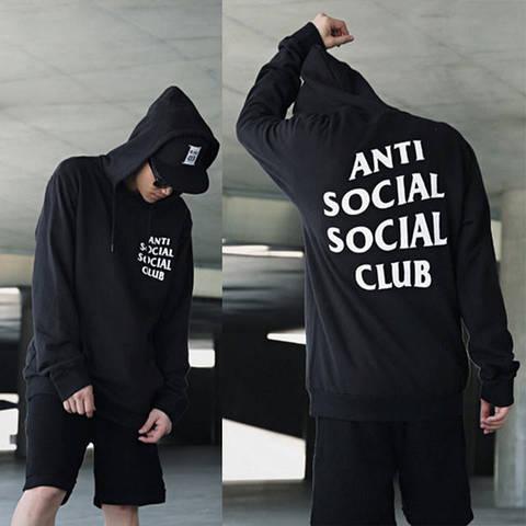 Толстовка с принтом Anti Social Social Club  A.S.S.C. Худи (РЕПЛИКА)