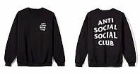 Свитшот  с принтом Anti Social Social Club A.S.S.C. Кофта