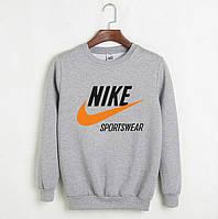 Свитшот мужской с Nike Sportswear Найк Кофта серая (РЕПЛИКА)